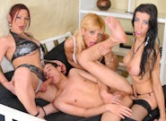 Big Cock She Male Gang Bang #04, Scene #02