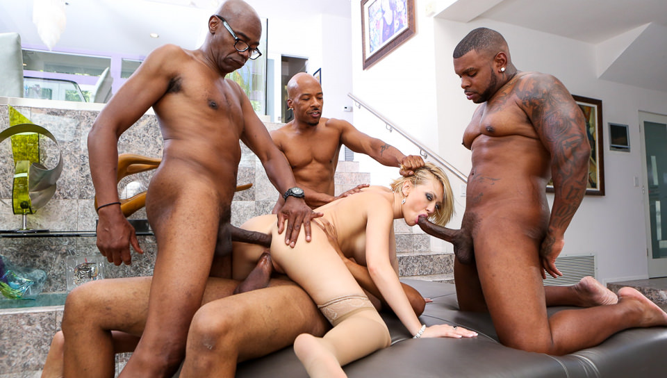 Her first monster cock gangbang #7