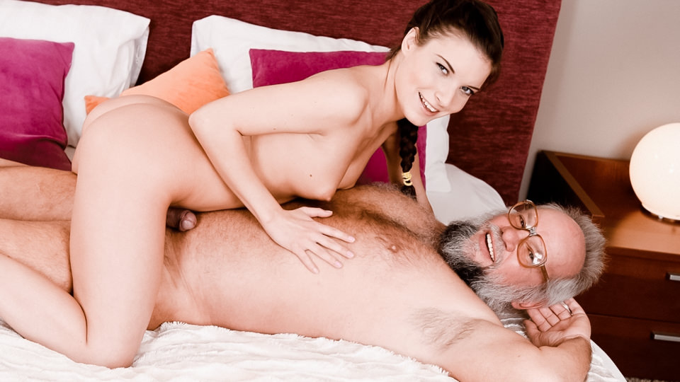 Youngling Anita Bellini Keeps Grandpa in Shape