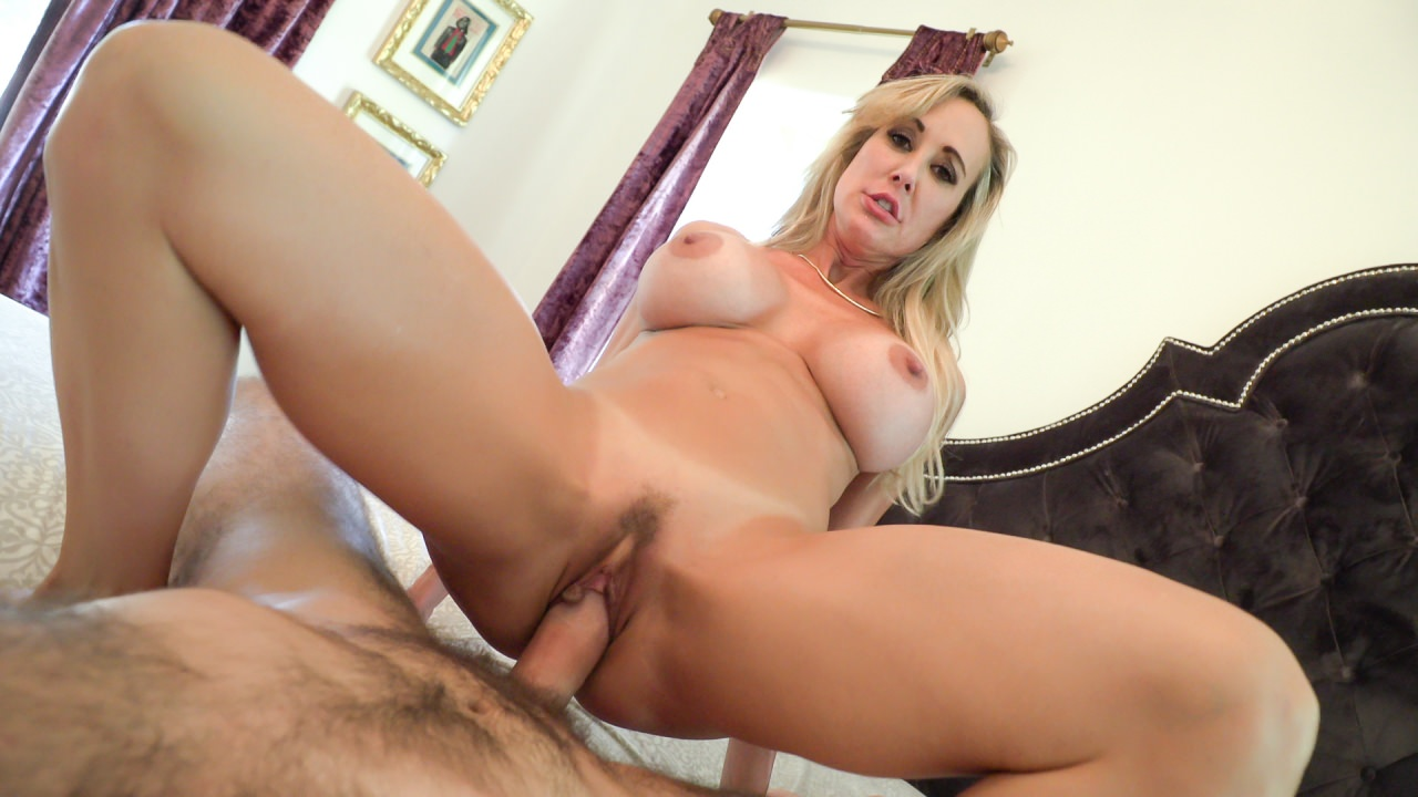 image Talented blonde slurps on dick like boss