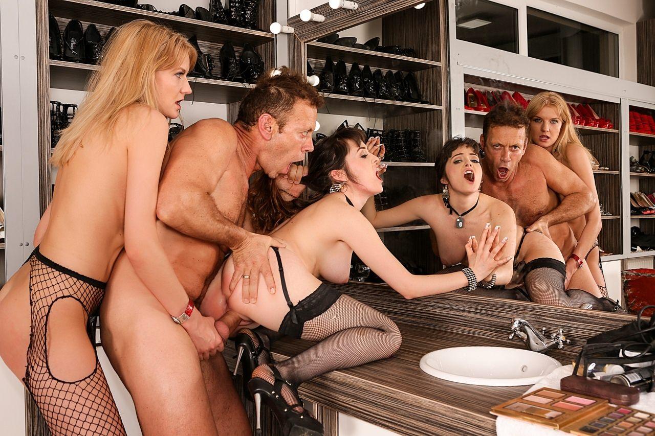 Porn film backstage