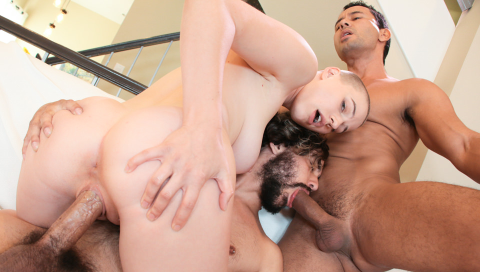 Cute Riley & Bi Boyfriend's Threesome with Riley Nixon, Gabriel D'Alessandro, Jasper Stone on Evilangel's sex channel