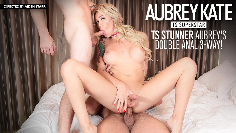 TS Stunner Aubrey's Double Anal 3-Way! – Sebastian Keys, Colby Jansen, Aubrey Kate