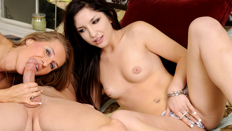 Mothers Teaching Daughters How To Suck Cock – Sara James, Giselle Leon