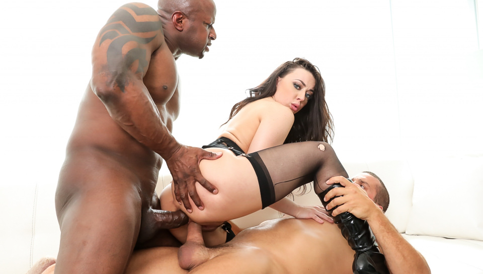 Whitney's Interracial DP & Cum Facial