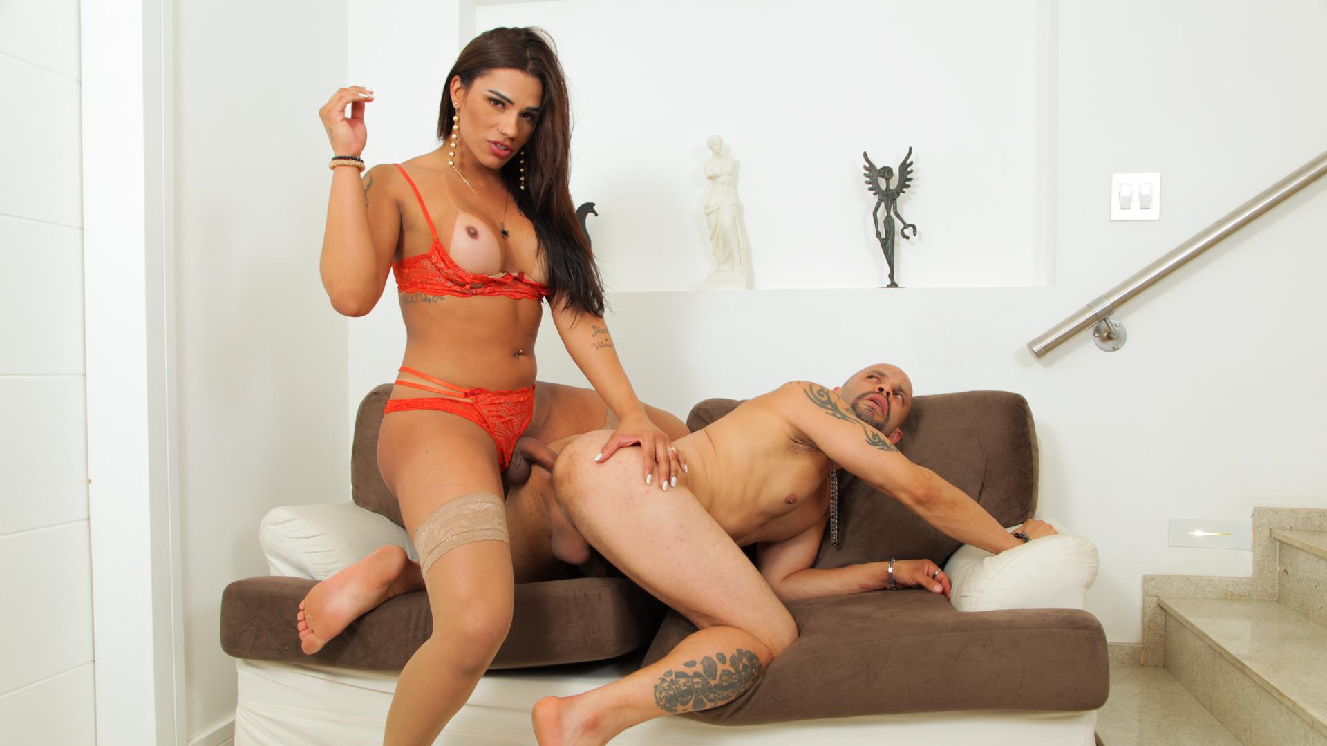 TS Sabrina Neves Handles Her Man