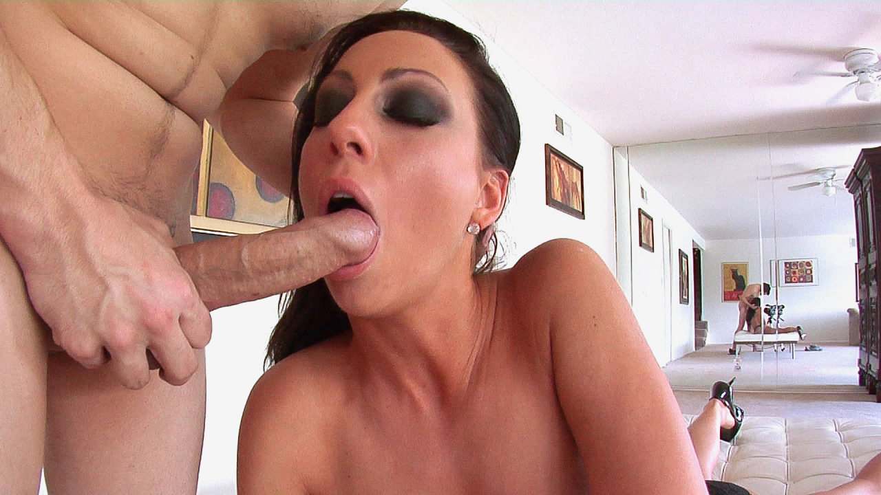 Lou lou sucking a huge white cock for huge cumshot 3
